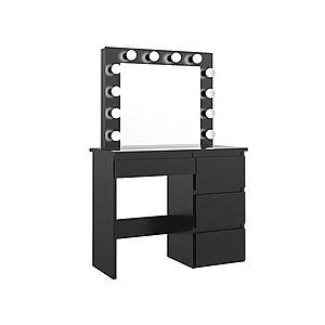 látás w alakú asztal