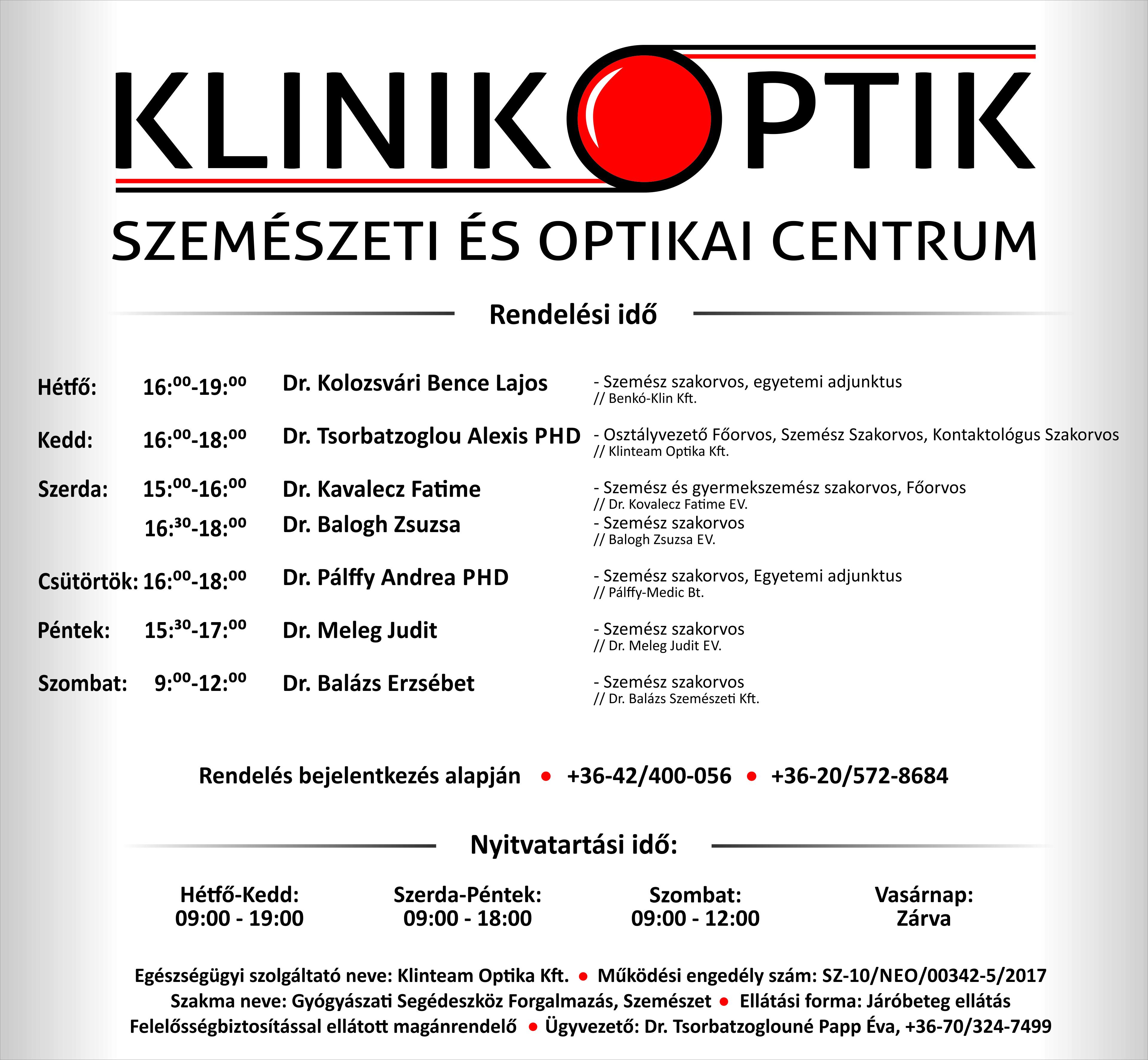 szemészeti berendezések értékesítése)