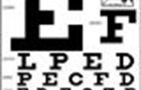eredménytábla betűi a látás teszteléséhez)