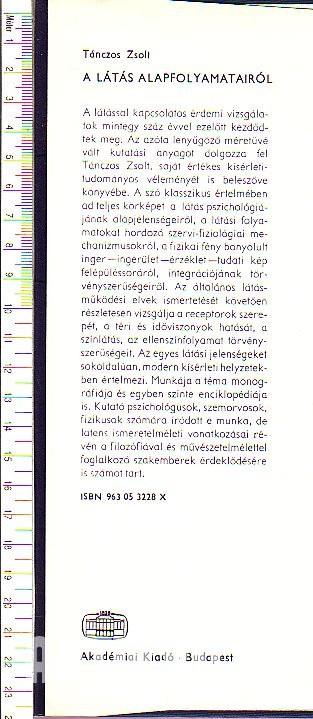 1. fejezet - A háromdimenziós technikák pszichológiai és fiziológiai háttere