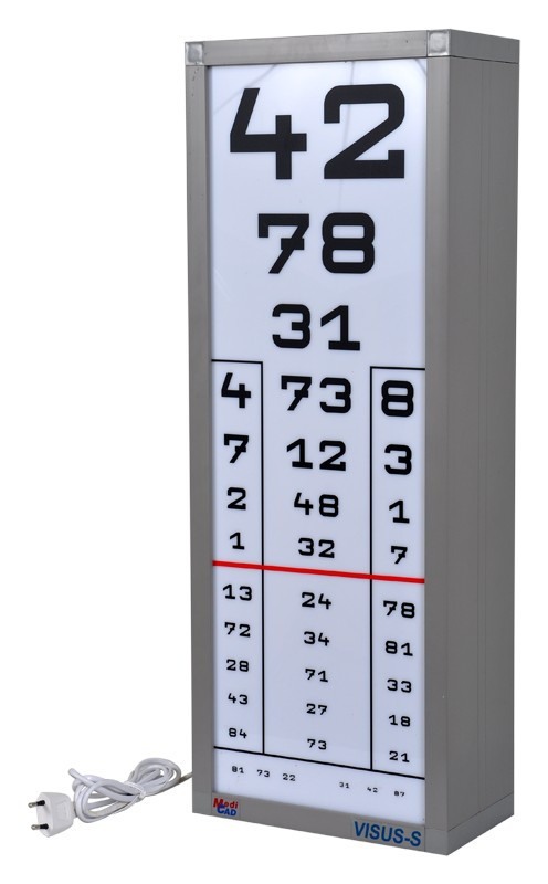 látásvizsgálati asztal távolsága