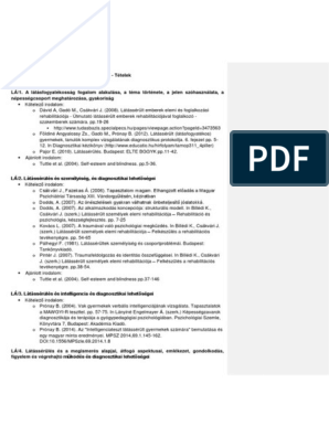 látássérült gyermekek klinikai és pedagógiai jellemzői)