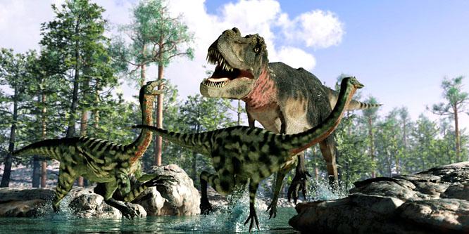 a dinoszauruszok látják