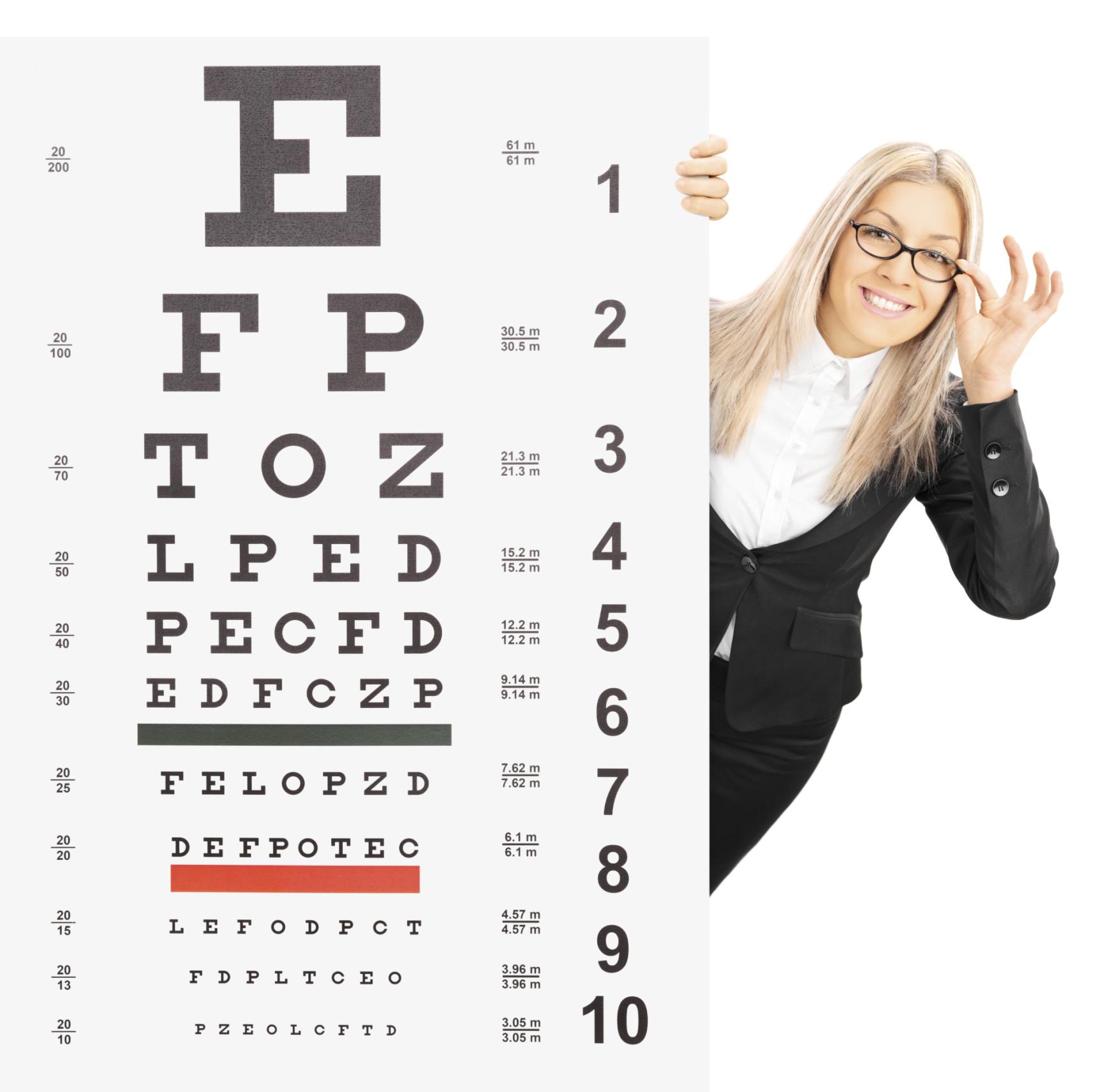 látás teszt tábla)