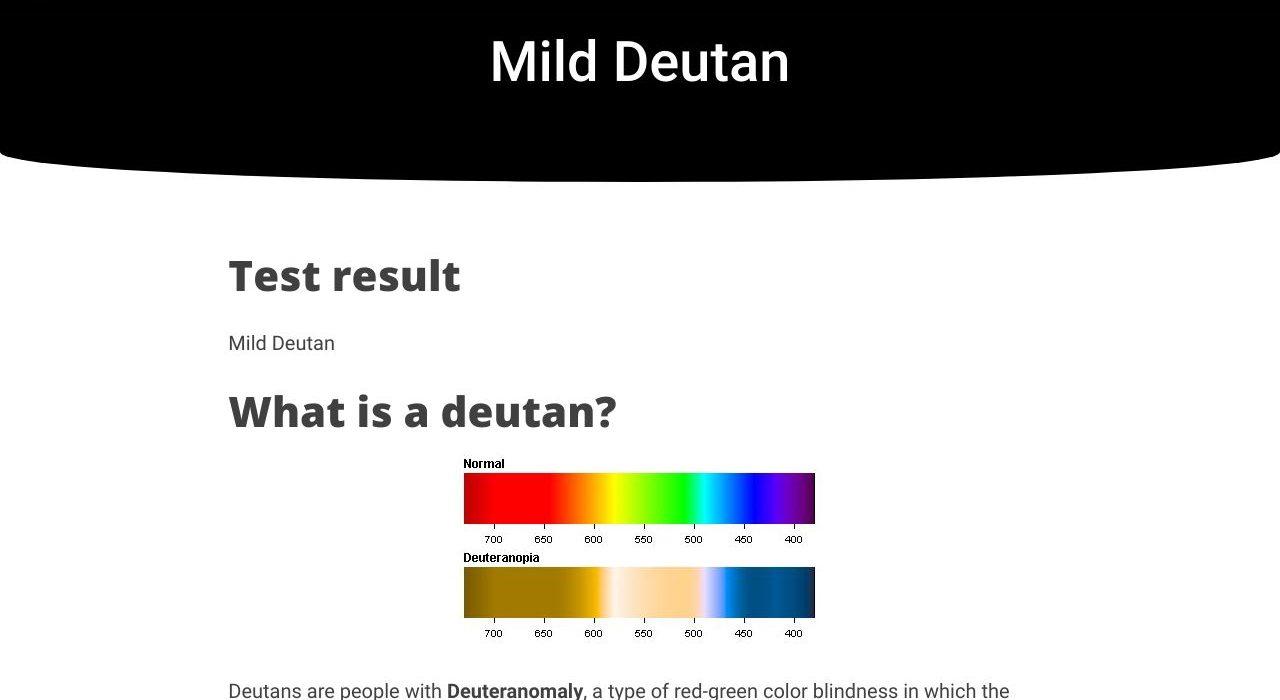 a deuteranopia a látásról szól