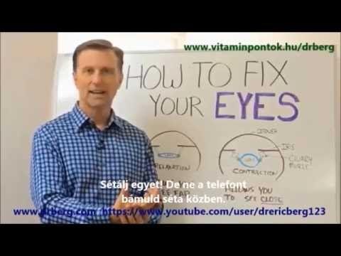 eredménytábla betűi a látás teszteléséhez
