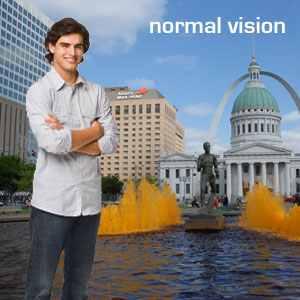 Normális látás, A perifériás látás normális