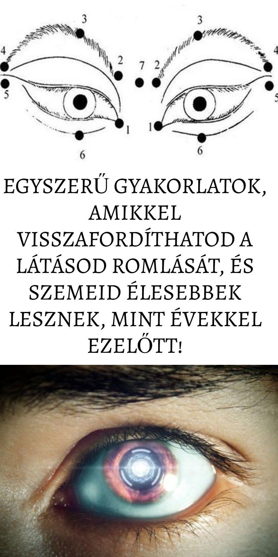 gyakorlatok listája a látás helyreállításához)