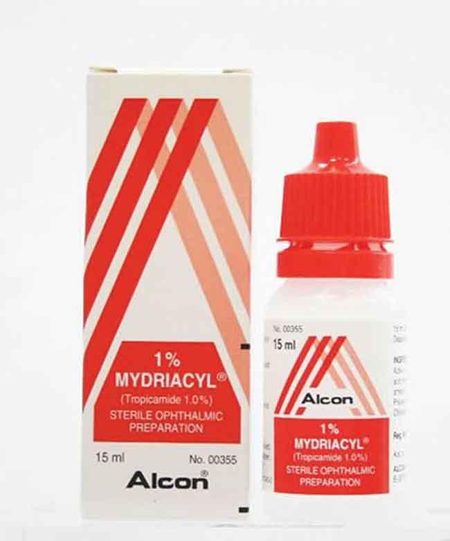 mydriacil myopia