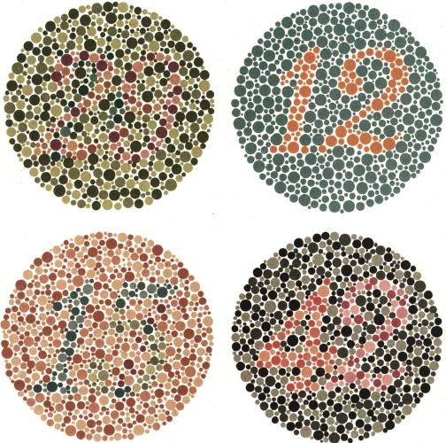 látásélesség színvakság-teszt
