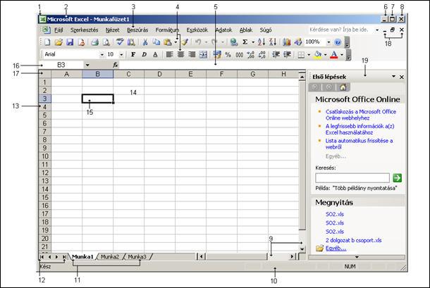 online nézet táblázat