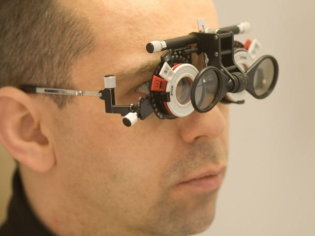 a dioptriák látásélességtől való függése