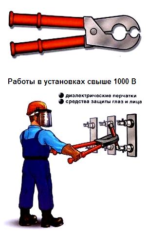 látás, amikor elektromos berendezésekben dolgozik)