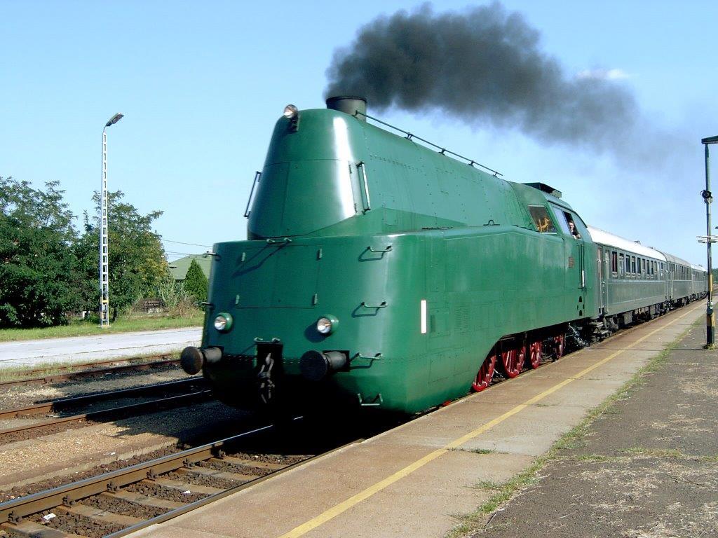 a vonat látványa