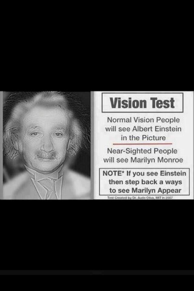 myopia teszt einstein monroe