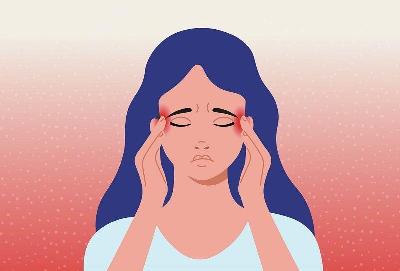 fejfájás és homályos látás