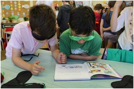 A látássérült gyermekek csoportjai