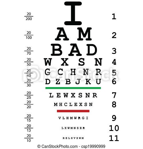 Levél látás teszt Levél sorozat a látás tesztelésére