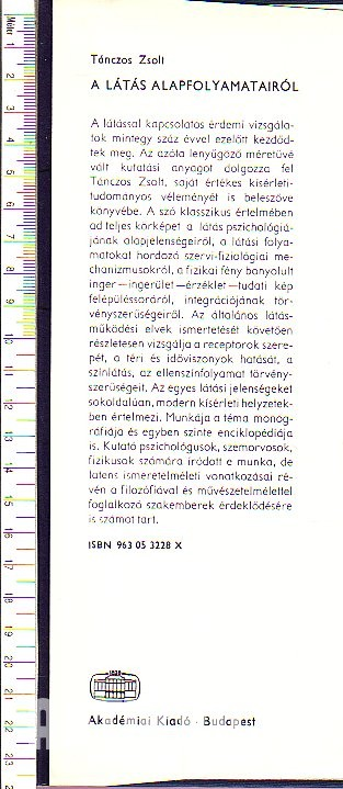 könyvek a fiziológiai látásról)