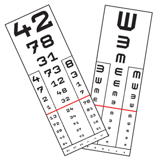 normál látásvizsgálat)